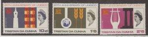 Tristan da Cunha Scott #101-102-103 Stamps - Mint NH Set
