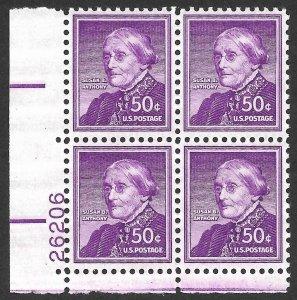Doyle's_Stamps: 1958 MNH Susan B. Anthony 50c Definitive PNB