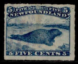 CANADA - Newfoundland QV SG43, 5c blue, USED.