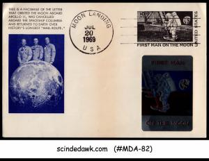UNITED STATES USA 1969 FACSIMILE OF THE LETTER THAT ORBITED MOON ABROAD