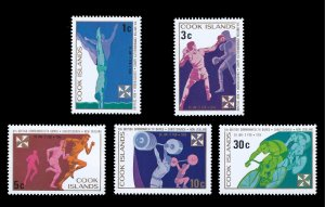 Cook Islands MNH 372-6 Commonwealth Games Sports 1974