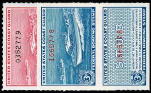 US-zqfa-REV-BOATING STAMPS RVB1-2  Mint (ID # 70545)