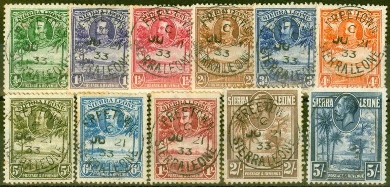 Sierra Leone 1932 set of 11 to 5s SG155-165 Good-Fine Used