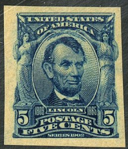 U.S #315 MINT OG LH with Weiss Cert