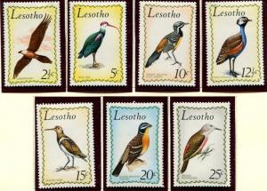 Lesotho SC# 105-111 African Birds, set of 7 MNH