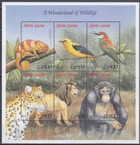 1999 Sierra Leone 3235-40KL Fauna 9,00 €