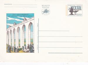 Portugal 250th anniversary of Aguas Livres Aquaduct 7 esc Postcard Unused VGC