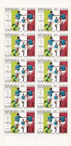 Chad # 227A-227D, World Cup Soccer, Sheets of 10, NH 1/4 Cat