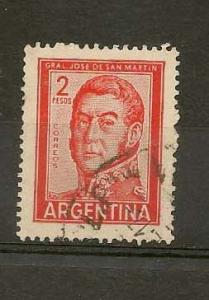 ARGENTINA STAMP, VFU G. JOSE DE SAN MARTIN,2 PESOS # AR-12