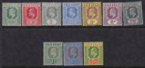 Gold Coast 1907-1913 SC 56-65 LH Set