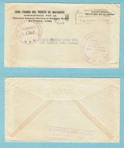 CUBA - 1943 penalty cover, US censored (2062)