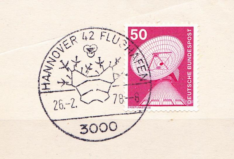 Germany 1978, Hannover airport, special postmark