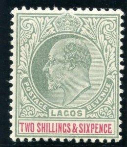 Lagos 1904 KEVII  2s6d green & carmine MLH. SG 51. Sc 47.
