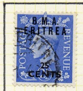 Eritrea 1948-50 Early Issue Fine Used 25c. Surcharged BMA Optd 308043