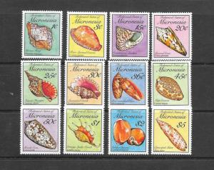 SHELLS - MICRONESIA #83-102  MNH