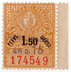 (I.B) Paraguay Revenue : Public Credit Board 15c on 1.50P OP