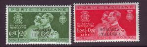 J19949 Jlstamps 1930 somalia mnh #111-2 ovpt
