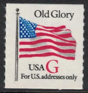 Scott 2892- Old Glory, G Rate (32c), Roulette Coil- MNH 1994- unused mint