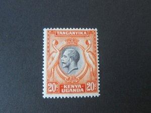 Kenya Uganda Tanganyika 1935 Sc 50 KGVI Bird MH