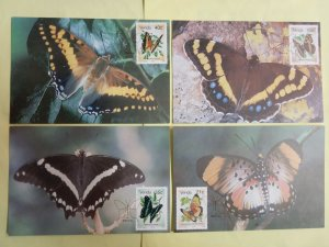 SA Venda 1990 Postcards Insects Butterfly Papillon Animals Fauna Moth Stamps