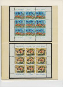 EUROPA 7 PAGES SOUND VF COLLECTION LOT OG NH U/M SHEETS MINT NEVER HINGED