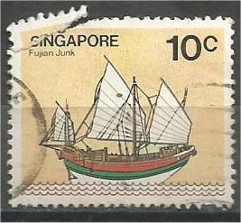 SINGAPORE, 1980, used 10c, Junk, Scott 338 damage