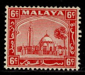 MALAYSIA - Selangor GV SG74, 6c scarlet, M MINT. Cat £15.