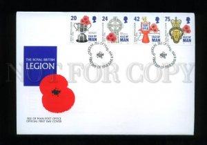 161445 ISLE OF MAN 1996 Royal British Legion FDC cover