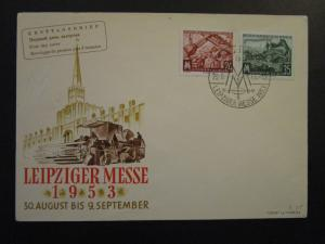 Germany DDR SC# 172 / 173 on 1953 FDC / Unaddressed / Cacheted - Z4521