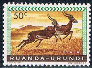 Ruanda Urundi 140 MNH Impalas 1959 (R0246)+