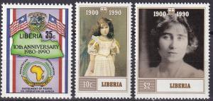 Liberia #1139, 1145-6 MNH CV $5.25 (A19192)