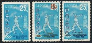 Panama C236,C268,C270,MNH.Mi 576,628.630. Olympics Rome-1960.Javelin thrower.