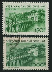 Viet Nam 86-87,CTO.Michel 88-90. Ngoc Son Temple of Jade.Bridge.1958.