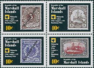 Marshall Islands 1984 SG21-24 UPU Congress set MNH