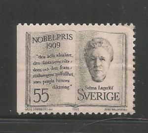 SWEDEN, 846, MINT HINGED, 1909 NOBEL PRIZE