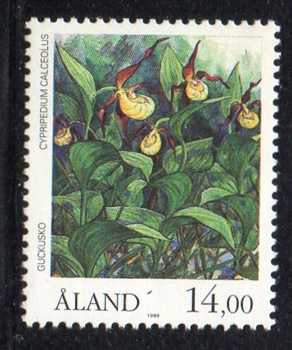 Aland Finland Sc 54 1989 14m flowers stamp mint NH