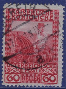 Austria - 1908 - Scott #122 - used - SERETH pmk Bukovina Romania