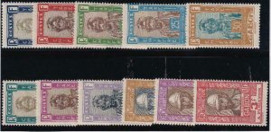 Gabon 1930-SC J12-J22 Mint Set