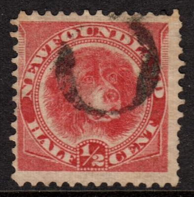 Newfoundland QV 1887 0.5c Rose-Red SG49 Used