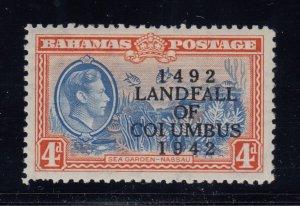 Bahamas, SG 168a, MHR COIUMBUS variety