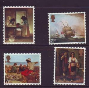 Jersey  Sc 57-0 1971 Jersey Paintings stamps NH
