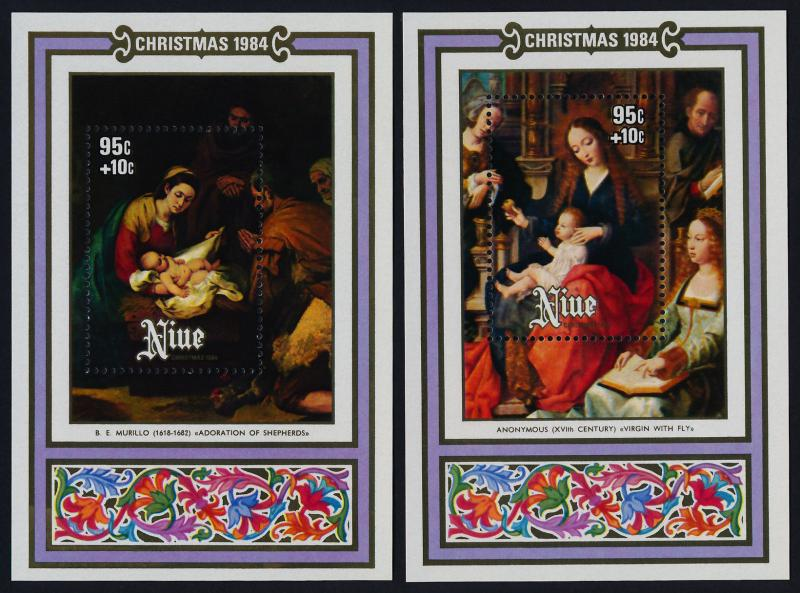 Niue 462-5 MNH Christmas, Art, Paintings