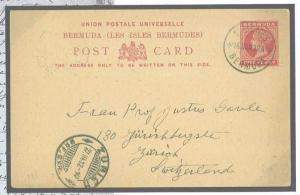 W531 1912 BERMUDA St.Georges B.C.P/stat./SWITZERLAND Zurich {samwells}