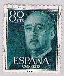 Spain 824 Used General Franco 1954 (BP24113)