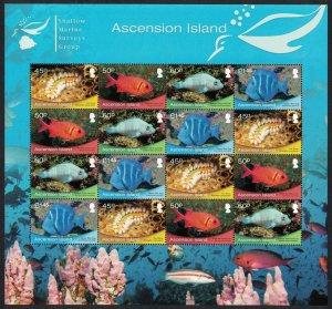 Ascension Fish Marine Life Sheetlet of 4 sets SG#1099-1102