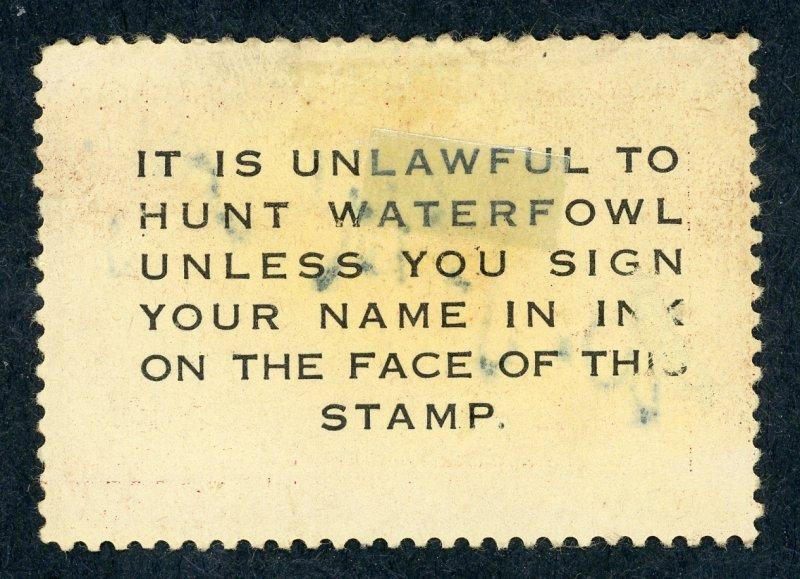 #RW13 – 1946 $1.00 Redhead Ducks.  Used.