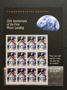 1994 sheet, Moon Landing 25th Anniversary Sc# 2841