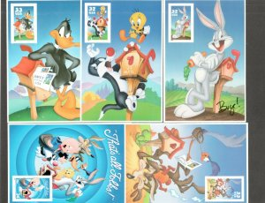 3137c-3204c-3306c-3391c-3534c Looney Tunes 5 Panes With 1 Stamp Each SHIPS FREE