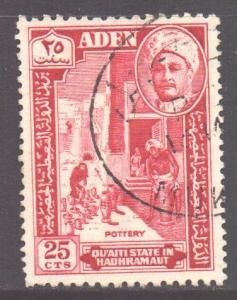 Aden Hadhramaut Scott 32 - SG32, 1955 Sultan 25c used