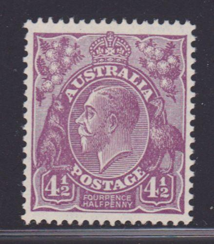 Australia Scott # 74a VF-OG lightly hinged nice color cv $ 85 ! see pic !